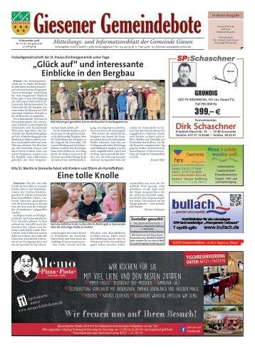 Giesener Gemeindebote 08.11.18