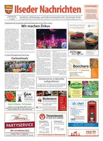 Ilseder Nachrichten 08.11.18