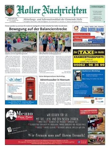 Holler Nachrichten 08.11.18
