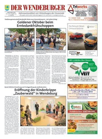 Der Wendeburger 09.11.18
