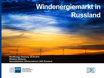 Export: Windenergiemarkt in Russland