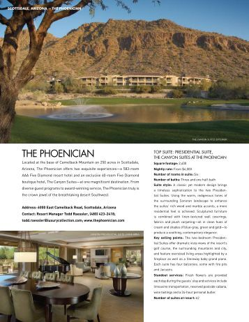 THE PHOENICIAN - Elite Traveler