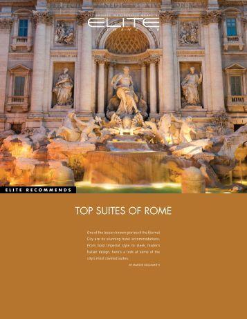 TOP SUITES OF ROME - Elite Traveler