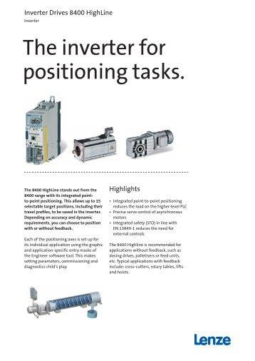 Flyer: Inverter Drives 8400 HighLine