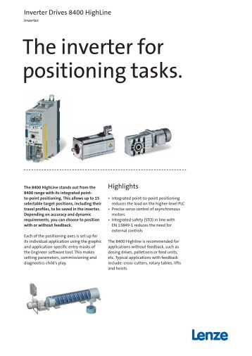 Flyer: Inverter Drives 8400 HighLine