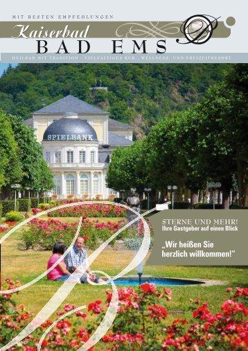 Ferienwohnungen - Stadt- und Touristikmarketing Bad Ems e.V.