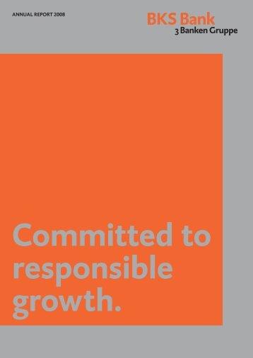 Corporate Governance Report - BKS Bank