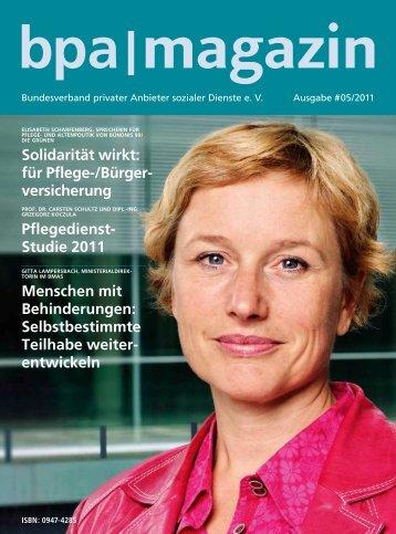 Magazin - Bundesverband privater Anbieter sozialer Dienste eV