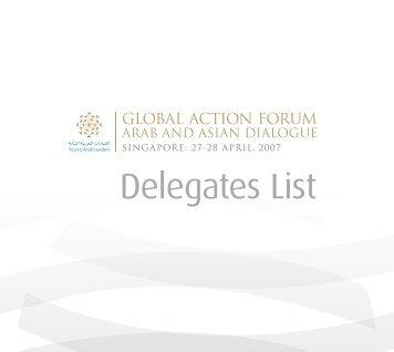 Delegates List - YAL