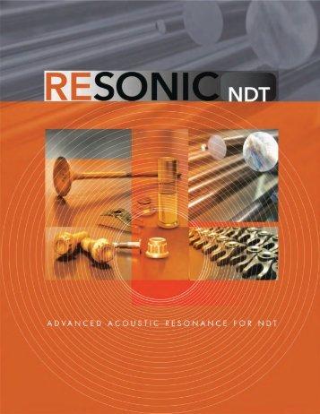 Company brochure - Resonic Technology