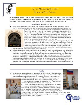 Master in xxx class of 2014 psia sciences po paris - Office of international education gatech ...