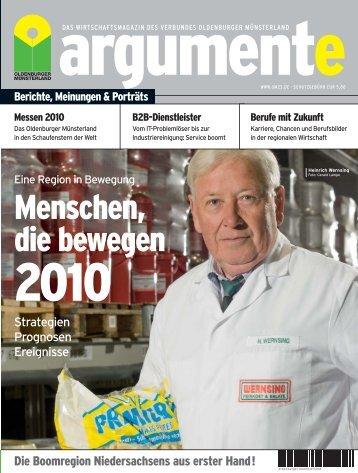 argumente 2010 - Verbund Oldenburger Münsterland