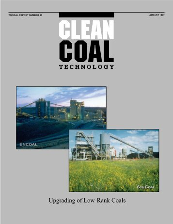 Upgrading of Low-Rank Coals - National Energy Technology ...
