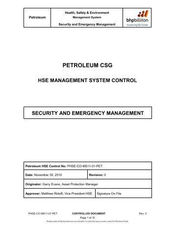 Marketing report on: CSR of BHP Billiton