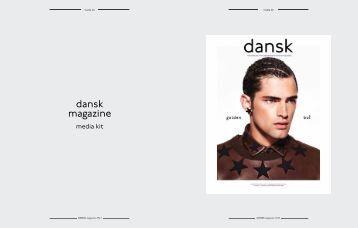 DANSK Media kit 2013.pdf - DANSK Magazine