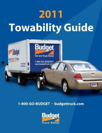 2011 Towability Guide - Budget Truck Rental