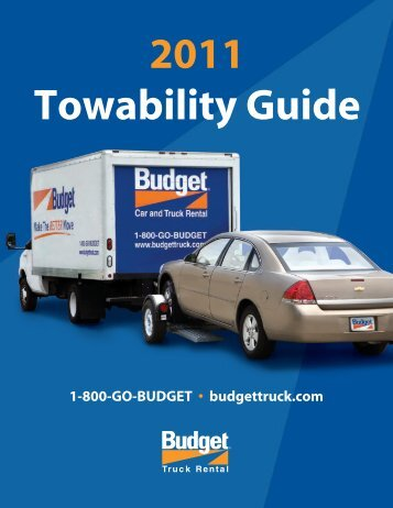 2011 Towability Guide - Budget Truck Rental