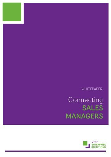 Connecting SaleS ManagerS - GlobalBizpro
