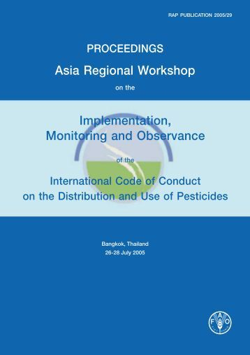 Proceedings of the Asia regional workshop on the