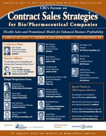 Contract Sales Strategies - DB Marketing Technologies