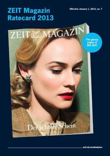 ZEIT Magazin Ratecard 2013 - IQ media marketing