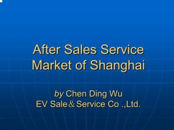 After Sales Service Market of Shanghai - ExtraEnergy.org