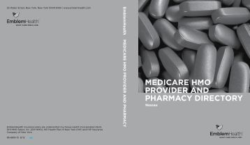 Medicare HMO prOvider aNd pHarMacy direcTOry - EmblemHealth