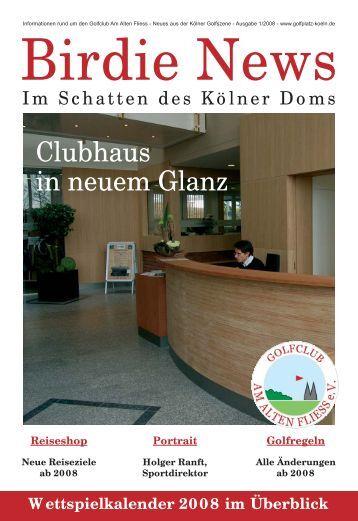 Birdie Book geht online - Golfplatz Am Alten Fliess e.V.
