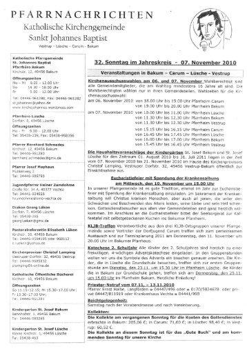 32. Sonntag im Jahreskreis - Kath. Kirchengemeinde St. Johannes ...