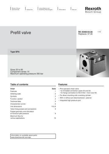 Prefill valve - Bosch Rexroth