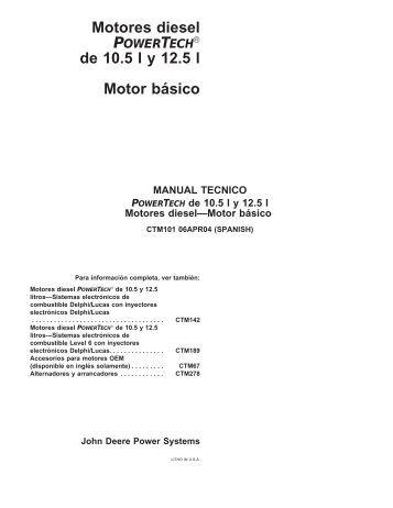Motores diesel de 10.5 l y 12.5 l Motor ba´sico