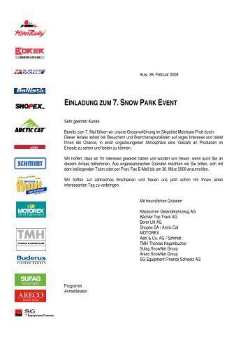 EINLADUNG ZUM 7.SNOW PARK EVENT