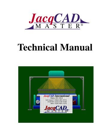 Technical Manual - JacqCAD International