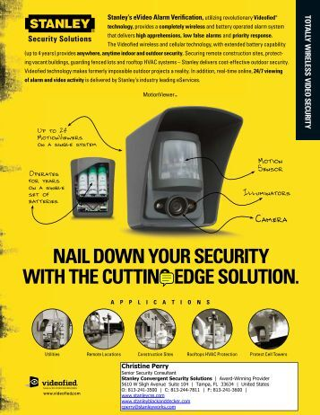 NAIL DOWN YOUR SECURITY WITh ThE CUTTINg EDgE SOLUTION.