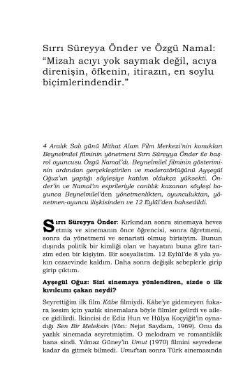 Sırrı Süreyya Önder ve Özgü Namal - Mithat Alam Film Merkezi
