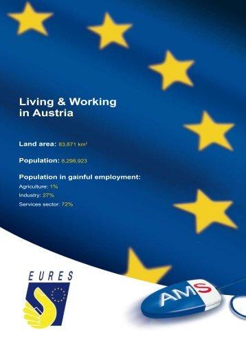 Living & Working in Austria Land area - Arbeitsmarktservice Österreich