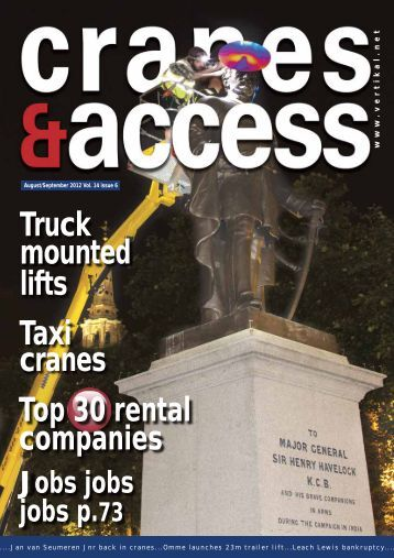 Truck mounted lifts Taxi cranes Top 30 rental companies - Vertikal.net