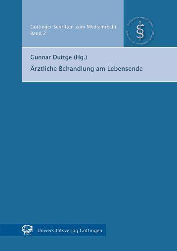 Ärztliche Behandlung am Lebensende (PDF) - GWDG