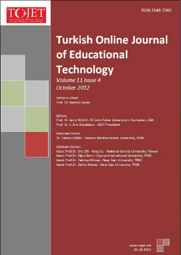 october 2012 - TOJET the Turkish online journal of educational ...