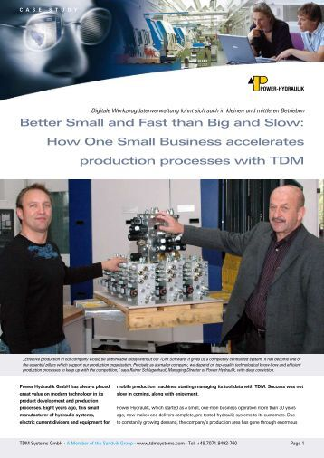 Better Small and Fast than Big and Slow: How One Small Business ...