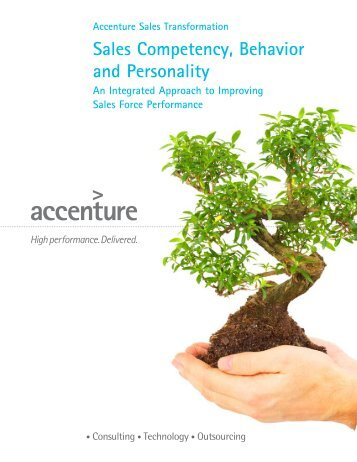 Sales Competency, Behavior and Personality
