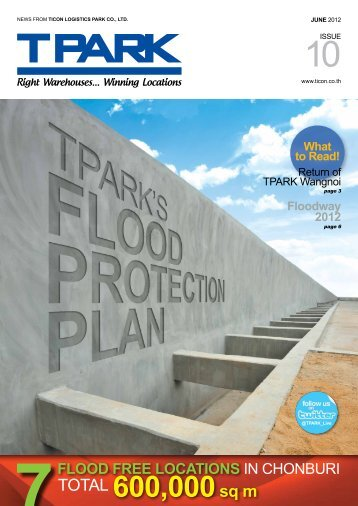 FLOODWAY 2012 The flood situation last year created a ... - Ticon