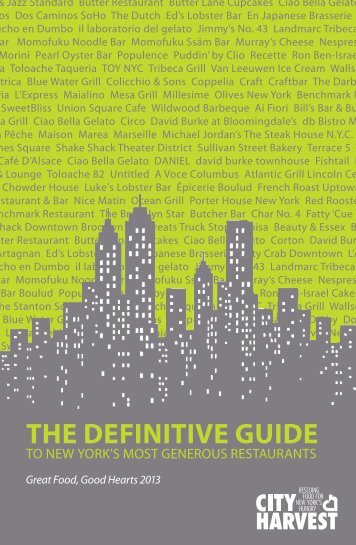 THE DEFINITIVE GUIDE - City Harvest