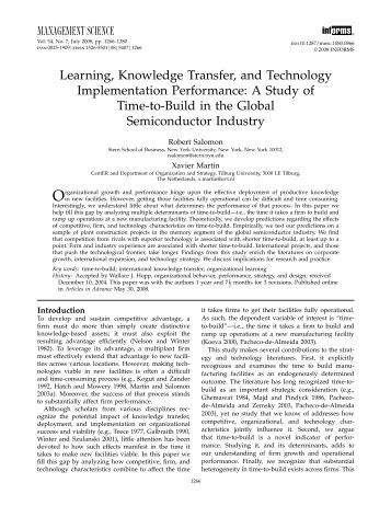 transfer of learning in those with Definitions and types of transfer • definitions of transfer when learning in one  practiced routines by stimulus conditions similar to those in the learning.