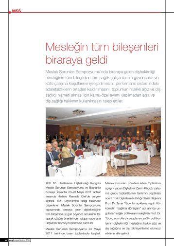 Mesleğin tüm bileşenleri biraraya geldi - İstanbul Dişhekimleri Odası