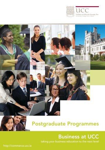 Business at UCC Postgraduate Programmes - University College Cork