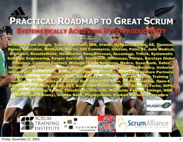 PRACTICAL ROADMAP TO GREAT SCRUM - Jeff Sutherland