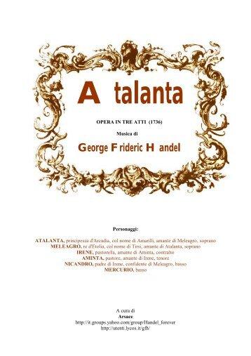 atto primo - George Frideric Handel