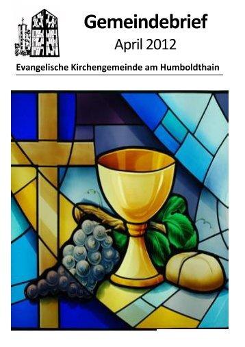 Gemeindebrief - Ev. Kirchengemeinde am Humboldthain