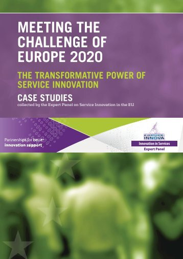 MEETING THE CHALLENGE OF EUROPE 2020 - Europe INNOVA